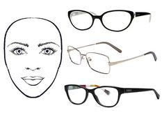 Eyeglass frames for heart-shaped face: try cat-eye or butterfly frames, nothing too top heavy with decoration
