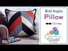 How to Crochet A Pillow: Bold Angles Pillow - YouTube