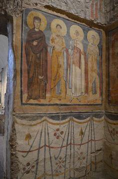 Santa Maria Antiqua, Roma. Affreschi della metà del VIII secolo. I Santi