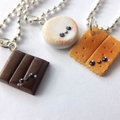 Best Friend Smores Necklaces Best Friend by PitterPatterPolymer
