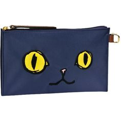 Longchamp Le Pliage Miaou Flat Cosmetic Case (£53) ❤ liked on Polyvore featuring beauty products, beauty accessories, bags & cases, multicolor, cosmetic makeup bag, make up bag, travel kit e makeup purse