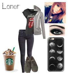 """""""Amber649130"""" by x-2manybands-x ❤ liked on Polyvore featuring H&M, Vans and Casetify"""
