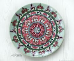 Buy Decorative plate \ Clover\  watercolor on Livemaster online shop & Decorative plate \