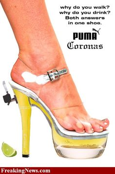 Puma Coronas:  Beer + Shoes = Beer Shoes or 2 for the price of 1!!!