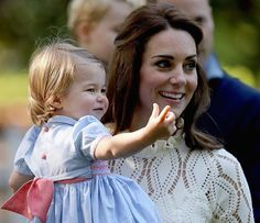 Prince William, Duchess Catherine, Prince George and Princess Charlotte at a children's party in Carcross