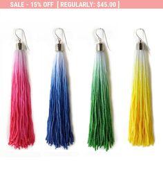 Spring Earrings Spring Jewelry Colorful Tassel Earrings