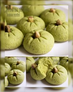 gribia with pistachio Biscuit Cookies, Yummy Cookies, Cake Cookies, Algerian Recipes, Lebanese Recipes, Arabic Sweets, Arabic Food, Cookie Recipes, Dessert Recipes