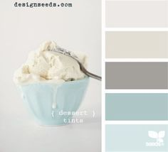 This Design Seeds palette shows ice cream as the inspiration but these are beautiful coastal possibilities. Love this palette for downstairs! Wall Colors, House Colors, Paint Colors, Design Seeds, New Wall, My New Room, Color Pallets, House Painting, Painting Walls