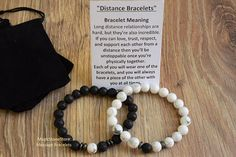 long distance relationship bracelet his and her bracelet