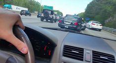 Jerk Speeding Down Shoulder Of Highway Gets Pulled Over Instantly