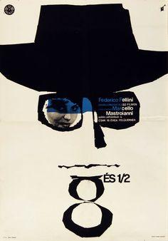 8 és 1/2 (1963) 8½ Director: Federico Fellini Hungarian vintage movie poster. Artist by Görög Lajos