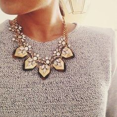 Great detail. Necklace love. Classic.