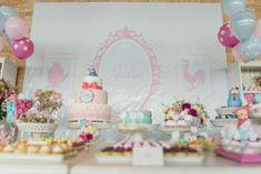 {Galinha Pintadinha Clean} minhafilhavaicasar mesa bolo doces festa de 1 ano 4