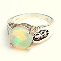 Opal Ring Welo Opal Ring Ethiopian Opal Ring by JanesGemCreations, $85.00