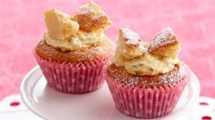 Butterfly cupcakes with passionfruit cream