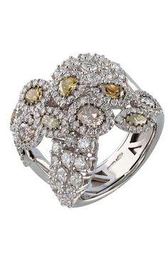 Fashion | Digo Valenza pink cognac white diamond ring