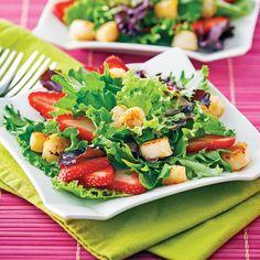 Salade de pétoncles et fraises - Recettes - Cuisine et nutrition - Pratico Pratique