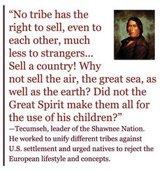Funny Native American Quotes | The Zinn Education Project: Stealing and Selling Nature: Why We Need ...