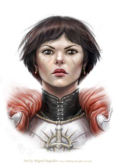 "Iomedae from Paizo's Pathfinder Adventure Path, ""Wrath of the Righteous."" Art by Miguel Regodon."