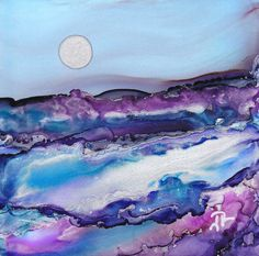 Alcohol Ink Dreamscapes   Dreamscaping With June Rollins®