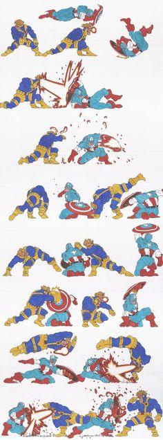 marvel_doodles_02_Cap Vs Cyclops_oct2013 by AlexBaxtheDarkSide ✤ || CHARACTER DESIGN REFERENCES | キャラクターデザイン | çizgi film • Find more at https://www.facebook.com/CharacterDesignReferences & http://www.pinterest.com/characterdesigh if you're looking for: bandes dessinées, dessin animé #animation #banda #desenhada #toons #manga #BD #historieta #sketch #how #to #draw #strip #fumetto #settei #fumetti #manhwa #cartoni #animati #comics #cartoon || ✤