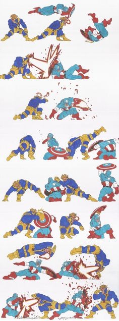 marvel_doodles_02_Cap Vs Cyclops_oct2013 by AlexBaxtheDarkSide ✤ || CHARACTER DESIGN REFERENCES | キャラクターデザイン | çizgi film • Find more at https://www.facebook.com/CharacterDesignReferences & http://www.pinterest.com/characterdesigh if you're looking for: bandes dessinées, dessin animé #animation #banda #desenhada #toons #manga #BD #historieta #sketch #how #to #draw #strip #fumetto #settei #fumetti #manhwa #cartoni #animati #comics #cartoon || ✤