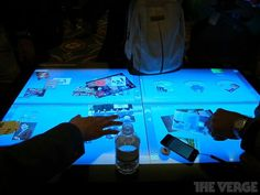 3M's 46-inch multitouch table. The display has a 1080p resolution, and currently supports up to 20 concurrent touches- — though it's theoretically capable of tracking up to 60. 3M sees the technology being put to use in retail stores, military applications, and governmental offices. - TheVerge