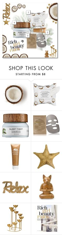 """Face Mask Party ✨"" by girlonstage ❤ liked on Polyvore featuring beauty, Sephora Collection, Patchology, Origins, Dot & Bo, NOVICA and facemasks"