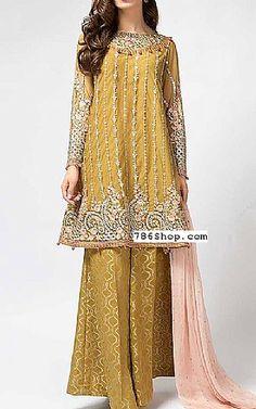 eb90edb09b Mehndi Green Chiffon Suit | Buy Pakistani Fashion Dresses and Clothing  Online in USA, UK