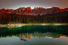 Terre/Nature Réflection  Montagne Forêt Nature Lac Fond d'écran
