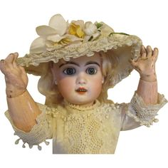 Antique French Jumeau Doll - Sensational Look from nostalgicimages on Ruby Lane