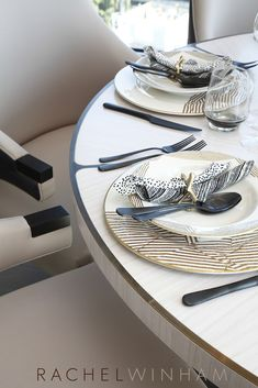Dining table detail and table dressing by Rachel Winham Interior Design…