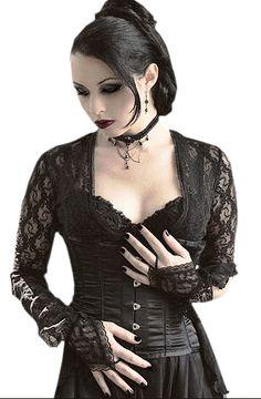 Classic romantic goth look. I wonder who the designer is? Gothic Girls, Hot Goth Girls, Gothic Lolita, Gothic Dress, Lolita Dress, Dark Beauty, Goth Beauty, Beauty And Fashion, Dark Fashion