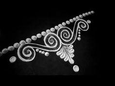 Very easy rangoli design around puja Rangoli Side Designs, Simple Rangoli Border Designs, Easy Rangoli Designs Diwali, Rangoli Designs Latest, Free Hand Rangoli Design, Small Rangoli Design, Rangoli Patterns, Rangoli Designs With Dots, Beautiful Rangoli Designs