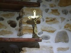 Brass French Crucifix by VintageRetroOddities on Etsy