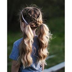 Easy hairstyles for schools + tutorials cute sporty hairstyles, ponytail hairstyles with braids, cute Cute Girls Hairstyles, Easy Hairstyles For Long Hair, Pretty Hairstyles, Braided Hairstyles, Classic Hairstyles, Girl Haircuts, Hot Haircuts, Popular Haircuts, Softball Hairstyles