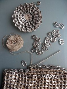 pop tab crafts | tutorial: for flower- great teen project