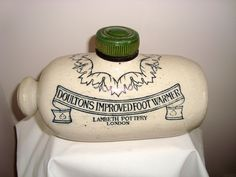 Antique Stoneware Doulton's Improved Foot Warmer Lambeth Pottery/ Ceramic Hot Water Bottle by MullardAntiques on Etsy