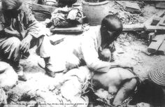 Not a Chinese woman who was gang raped by Japanese soldiers, but the  unfortunate victim of a disaster. Notice that both women have bound feet. This image appears to be much earlier than 1937. This is one of many images that originated from ghost websites in China in the first few months of 2008.  bbs.gx.vnet.cn   first crawled on to the internet  2008-02-07