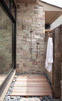 Indoor Outdoor Shower davis indoor outdoor shower | indoor outdoor, indoor and brown