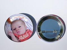 faire-part naissance badge