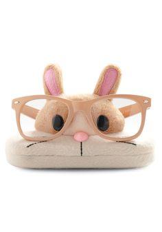 lol. Bunny glasses holder/glasses case... probably a bit much.