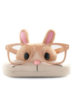 lol. Bunny glasses holder/glasses case... probably a bit much.