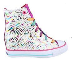 Skechers Girls Gimme-Moonbeams High-top Sneaker, White - Brands For Less