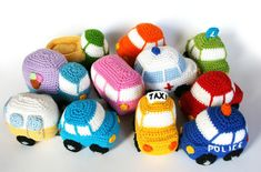 Check out our amigurumi car selection for the very best in unique or custom, handmade pieces from our stuffed animals & plushies shops. Crochet Car, Crochet Amigurumi, Amigurumi Patterns, Crochet Toys, Free Crochet, Crochet Patterns, Knitted Dolls, Crochet Faces, Crochet Animals