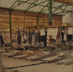 Drawing of Camp Handforth in England by Wilhelm Jansen-Joerde. Europeana 1914-1918, CC BY-SA