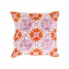 Lotus Tile Pillow