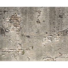 Wall Rogues WR50520 Broken Concrete Wall - Paste The Wall Wallpaper Mural - 300c $121.16 + $7.50 postage