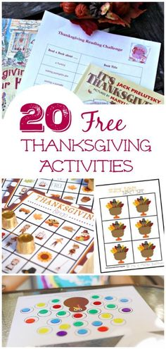 Kids will love these free printable games & activities for Thanksgiving -- enjoy them before the holiday or as a dinner activity at the kids table!