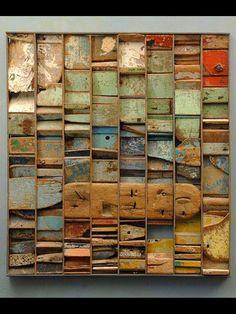 Driftwood assemblage by Paul Clowney, artist 'Tidy Beach'